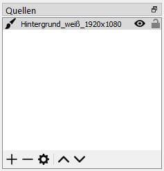 OBS Studio 26.1.1. – Einfach Modus – Farbquelle hinzugefügt