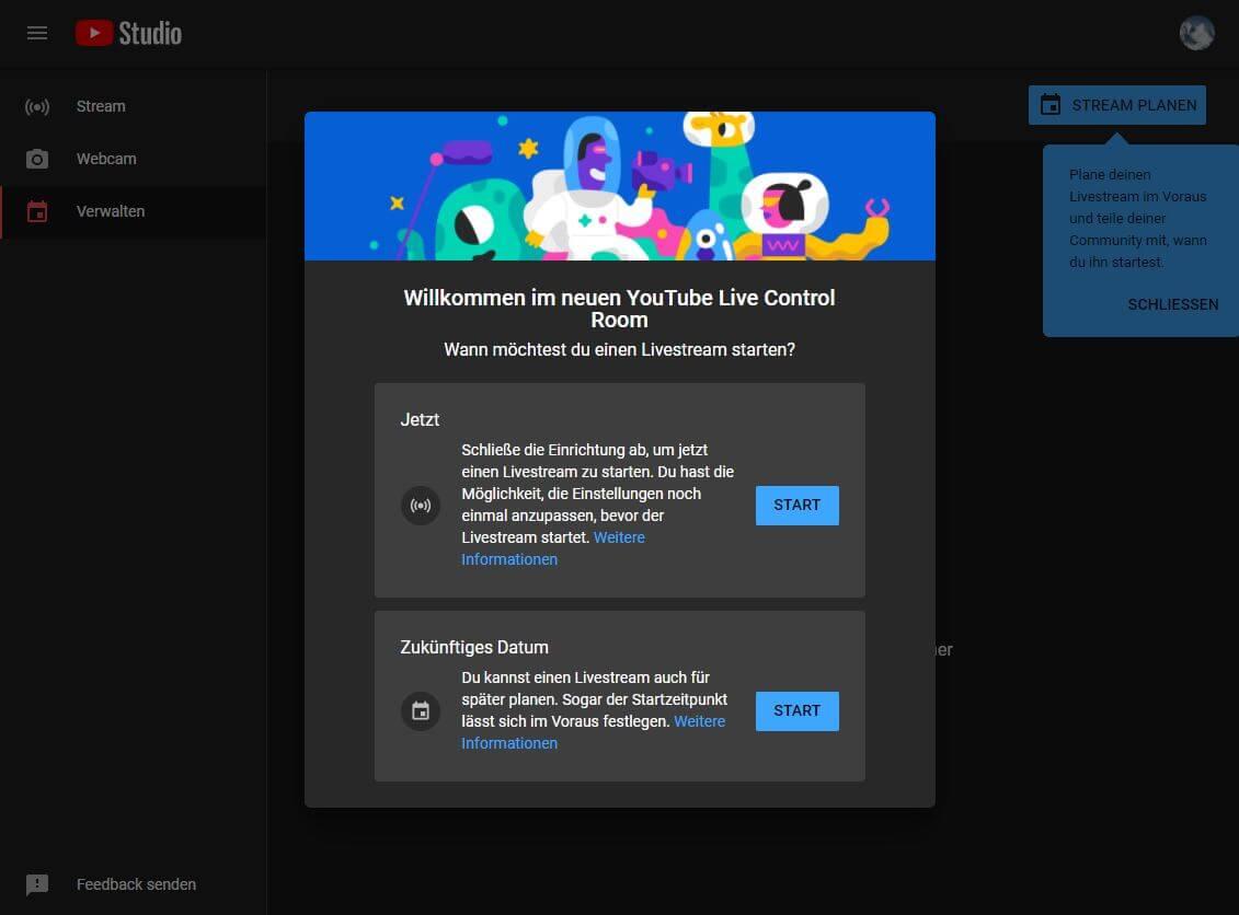 OBS Studio 26.1.1 - Youtube API Key generieren